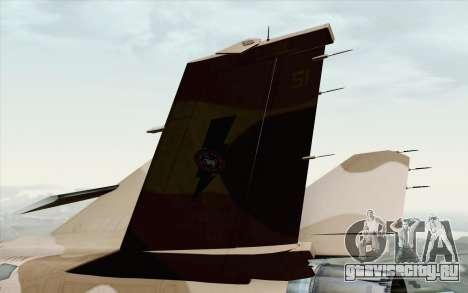 F-16C Fighting Falcon NSAWC Brown для GTA San Andreas вид сзади слева