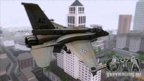 F-16F Fighting Falcon United Arab Emirates для GTA San Andreas вид слева