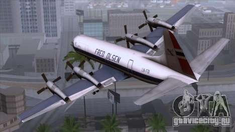 L-188 Electra Fled Olsen для GTA San Andreas вид слева