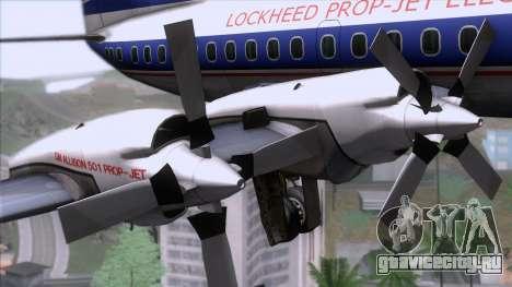 Lockheed L-188 Electra для GTA San Andreas вид справа