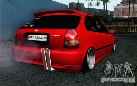 Honda Civic DRY Garage для GTA San Andreas вид слева