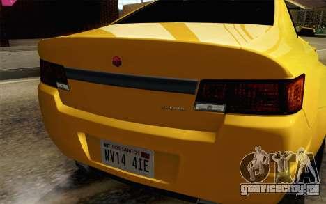 GTA 5 Cheval Fugitive IVF АПП для GTA San Andreas вид сзади
