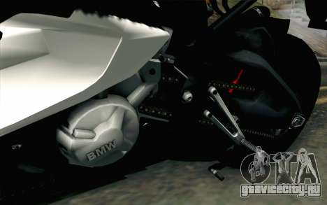 BMW S1000RR HP4 v2 Red для GTA San Andreas вид сзади