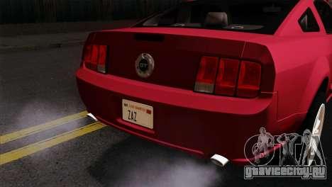 Ford Mustang GT PJ Wheels 2 для GTA San Andreas вид сзади