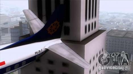 L-188 Electra Mandala Airlines для GTA San Andreas вид сзади слева