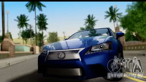 Lexus GS350 для GTA San Andreas вид сзади слева