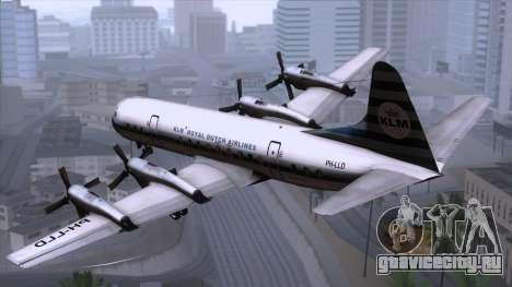 L-188 Electra KLM v2 для GTA San Andreas вид слева
