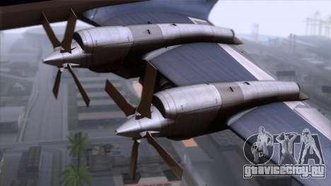 L-188 Electra Fled Olsen для GTA San Andreas вид сзади слева