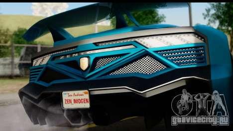 GTA 5 Zentorno Cabrio для GTA San Andreas вид справа