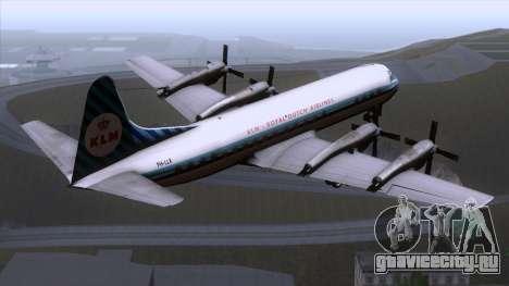 L-188 Electra KLM v1 для GTA San Andreas вид слева