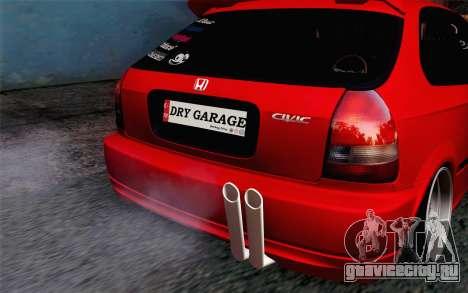 Honda Civic DRY Garage для GTA San Andreas вид сзади