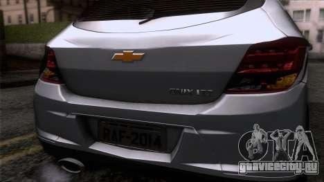 Chevrolet Onix для GTA San Andreas вид сзади