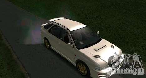 Subaru Impreza Sports Wagon WRX STI для GTA San Andreas вид сзади слева