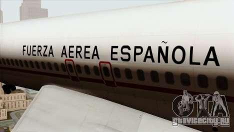 Boeing 707-300 Fuerza Aerea Espanola для GTA San Andreas вид сзади