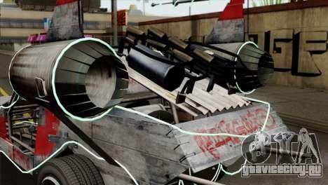 GTA 5 Space Docker IVF для GTA San Andreas вид сзади