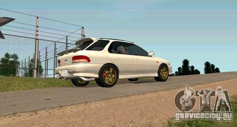 Subaru Impreza Sports Wagon WRX STI для GTA San Andreas вид слева