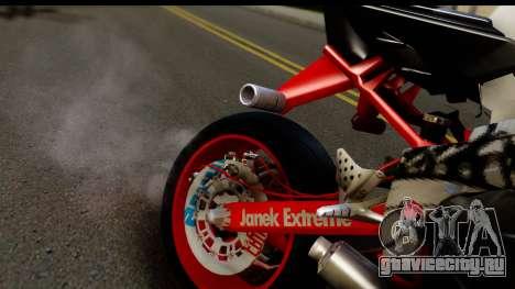 Kawasaki Ninja ZX6R v3.1 Fixed для GTA San Andreas вид сзади