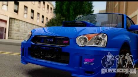 Subaru Impreza WRX STI 2004 для GTA San Andreas вид сзади слева