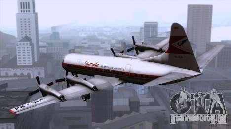 L-188 Electra Garuda Indonesia для GTA San Andreas вид слева