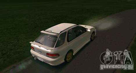 Subaru Impreza Sports Wagon WRX STI для GTA San Andreas вид справа