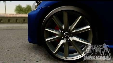 Lexus GS350 для GTA San Andreas вид справа