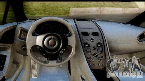 Aston Martin Vanquish 2013 Road version для GTA San Andreas вид сзади