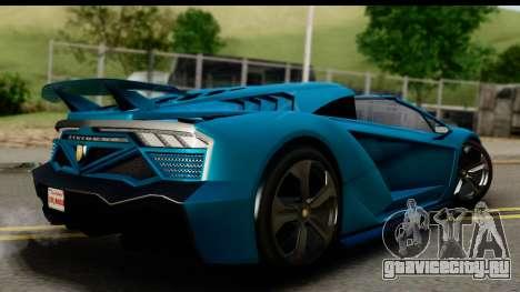 GTA 5 Zentorno Cabrio для GTA San Andreas вид слева