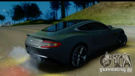 Aston Martin Vanquish 2013 Road version для GTA San Andreas вид изнутри
