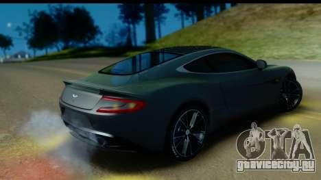 Aston Martin Vanquish 2013 Road version для GTA San Andreas вид изнутри