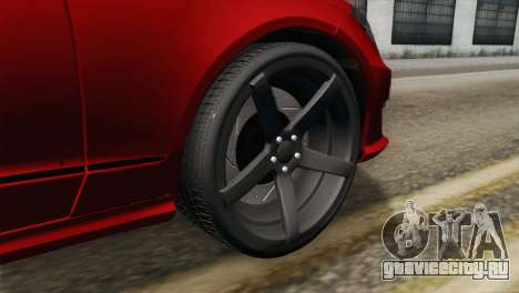 Mercedes-Menz CLS63 AMG для GTA San Andreas вид сзади слева