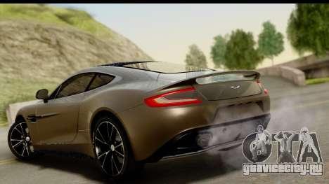 Aston Martin Vanquish 2013 Road version для GTA San Andreas вид слева