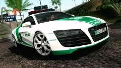 Audi R8 V8 FSI 2014 Dubai Police для GTA San Andreas