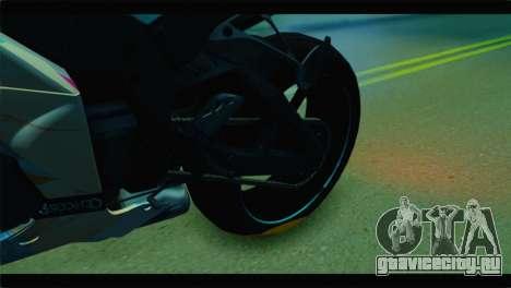Kawasaki Ninja ZX-10R Super Sonico Itansha для GTA San Andreas вид сзади