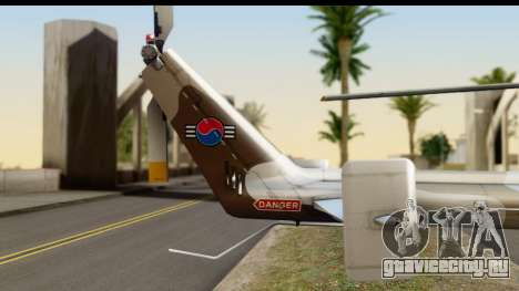 MBB Bo-105 Korean Army для GTA San Andreas вид справа