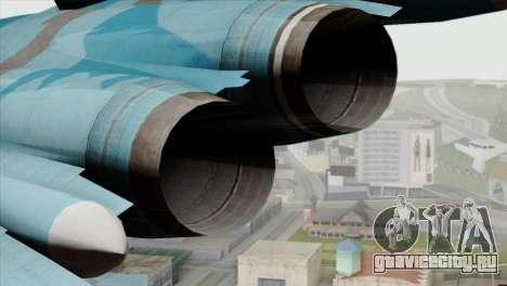 SU-47 Berkut Winter Camo для GTA San Andreas вид сзади