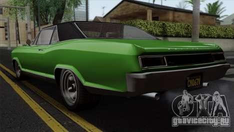 GTA 5 Albany Buccaneer IVF для GTA San Andreas вид слева