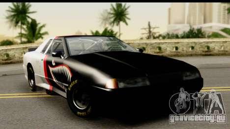 Elegy NASCAR PJ для GTA San Andreas вид изнутри