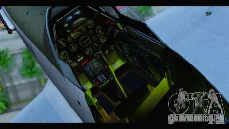 P-51 Mustang Mk4 для GTA San Andreas вид сзади