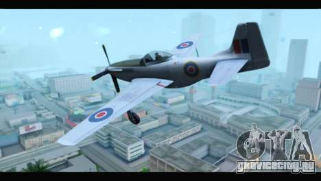P-51 Mustang Mk4 для GTA San Andreas вид слева