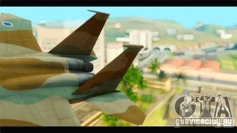 Boeing F-15C IAF для GTA San Andreas вид сзади слева