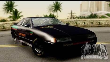 Elegy NASCAR PJ для GTA San Andreas вид сзади