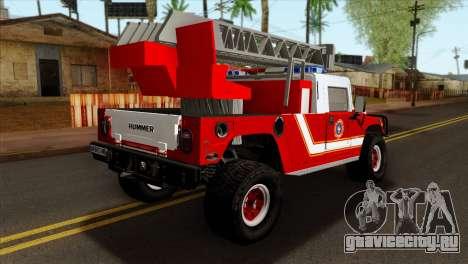 Hummer H1 Fire для GTA San Andreas вид слева