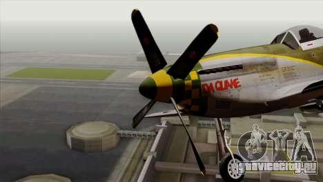 P-51D Mustang Da Quake для GTA San Andreas вид сзади