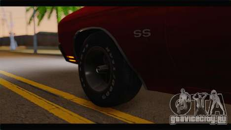 Chevrolet Chevelle 1970 Flat Shadow для GTA San Andreas вид сзади слева