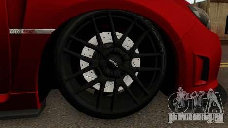 Subaru Impreza WRX STI Stanced для GTA San Andreas вид сзади слева