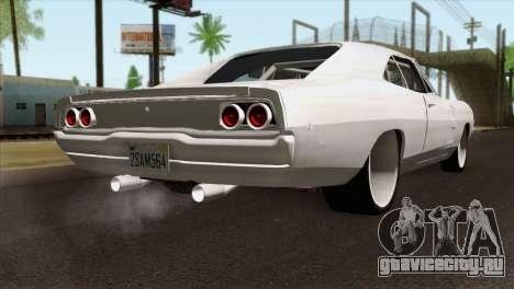 Dodge Charger 1968 для GTA San Andreas вид слева