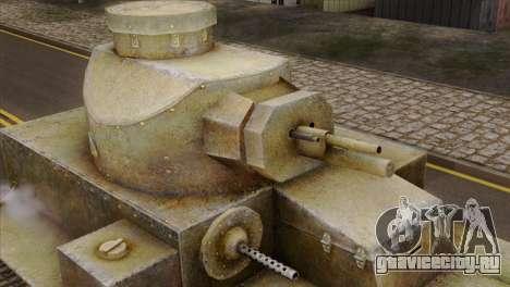 T2 Medium Tank для GTA San Andreas вид справа