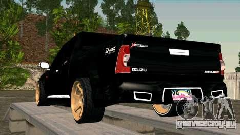 Isuzu D-Max X-Series для GTA San Andreas вид сзади слева
