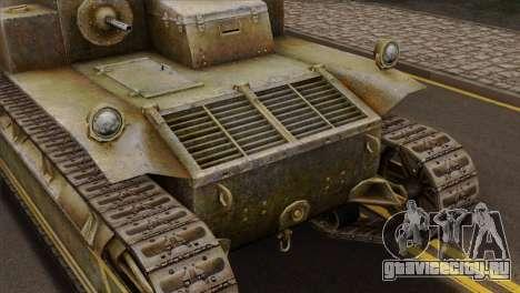 T2 Medium Tank для GTA San Andreas вид сзади