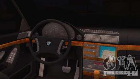 BMW 750iL E38 для GTA San Andreas вид сзади слева